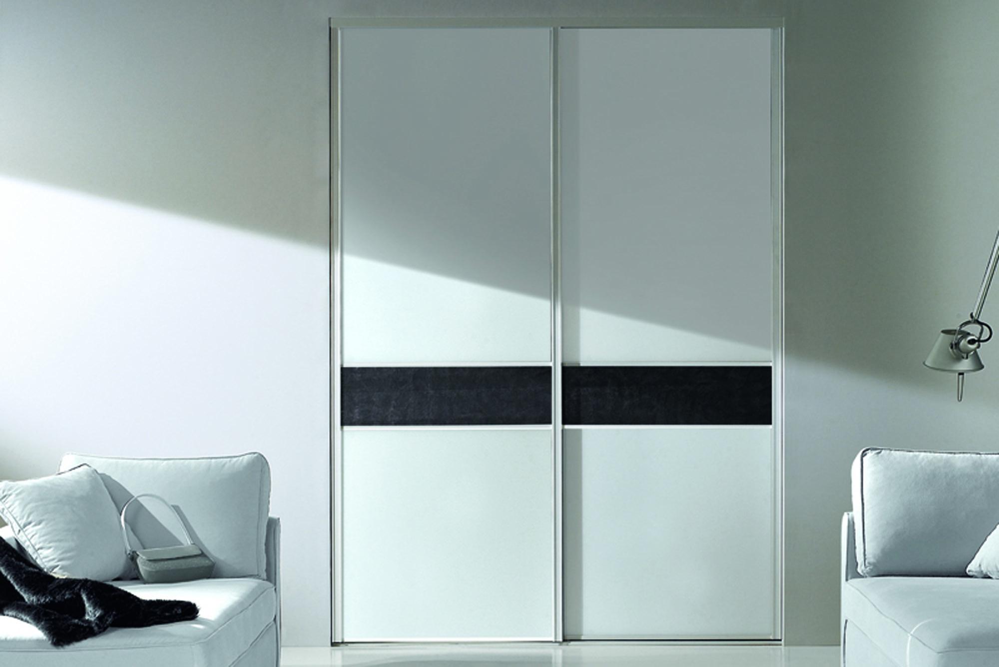 Porte de placard coulidoor blanche et noire
